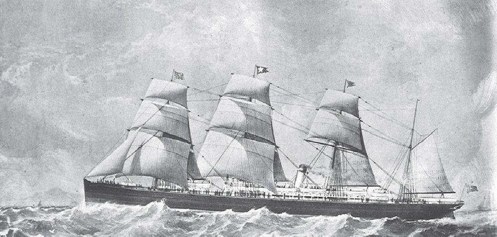 SS  Atlantic  at full sail