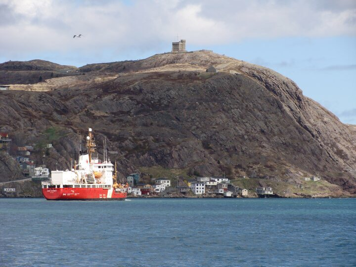 The  Ann Harvey  sailing out of the Narrows.