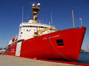 The  Louis S. St.-Laurent  alongside in St. John's. Photo by Heather Elliott.