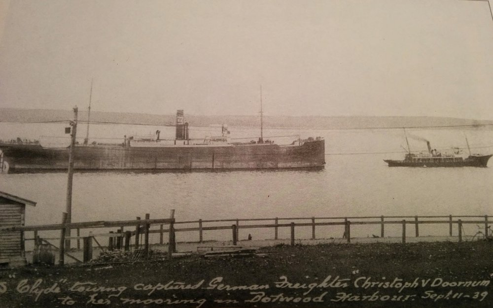 The  Clyde  towing the  Christoph V Doornum . Photo from The Alphabet Fleet by Maura Hanrahan.