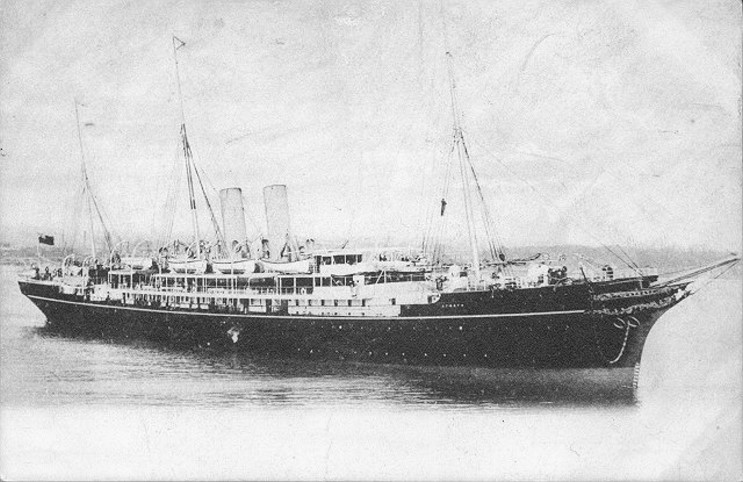 The RMS  Atrato , before she became the HMS  Viknor .