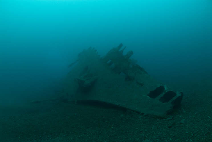 The bow of the HMS  Viknor . Image from MaritimeQuest.com