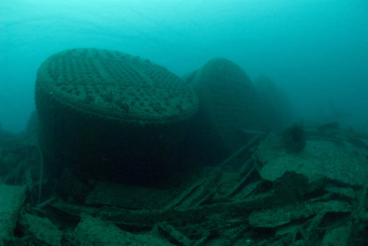 The stern of the HMS  Viknor . Image from MartimeQuest.com