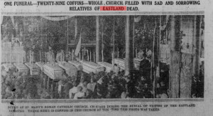 Funeral for  Eastland  Victims. From St. John's  Daily Star,  August 7, 1915.