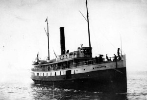 The steamship  Clallam . Image from the University of Washington archives.