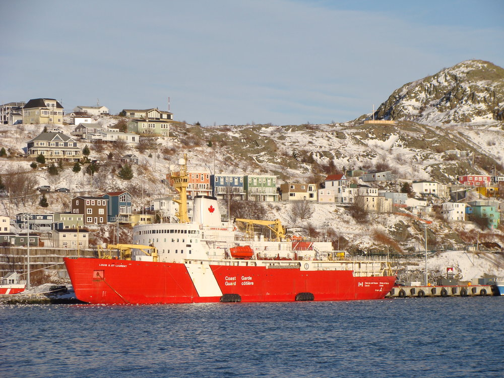 The  Louis  docked at Pier 17 in St. John's. Photo by Heather Elliott.