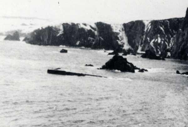 The wreck of the USS  Truxtun  near Chambers Cove