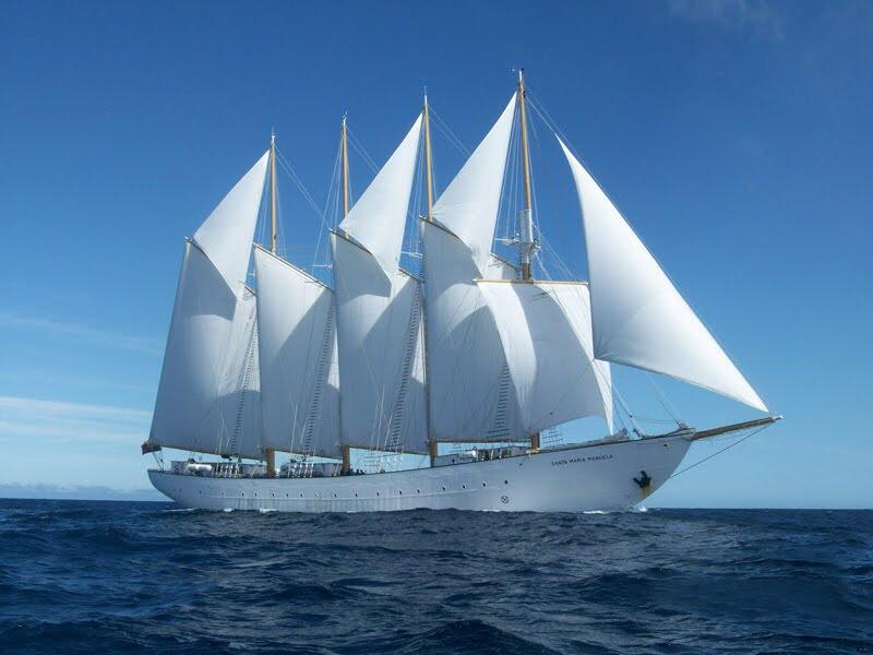 The  Santa Maria Manuela  at full sail.