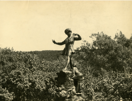 Peter Pan statue, Bowring Park. Image VA 6-12, fromThe Rooms Provincial Archives.