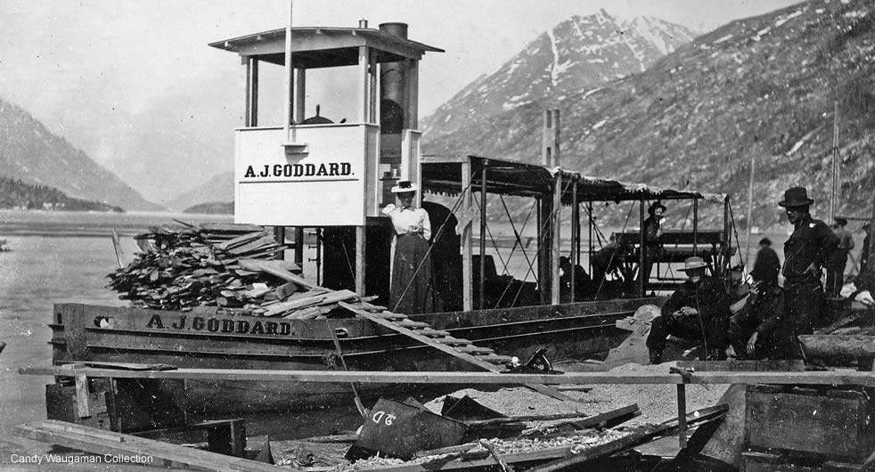 The  AJ Goddard . Image from the Charles Metcalfe collection of the Alaska State Library.