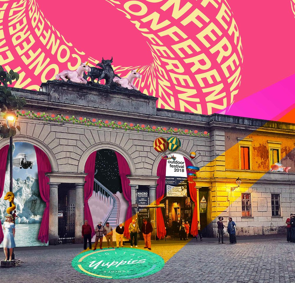 27 APRILEDigital Yuppies+ IED - Dopo Lipsia e Amsterdam, #DigitalYuppies torna a Roma il 27 Aprile alle 21.00 in collaborazione con IED Roma all'interno della programmazione di Outdoor Festival 2018.Un incontro con esperti del settore digital e new media: Marketing Digitale / Creatività / Design / Social Media / Entertainment / Music.