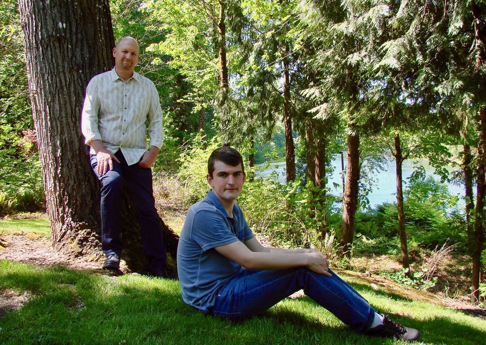 David Poulson and his son JD