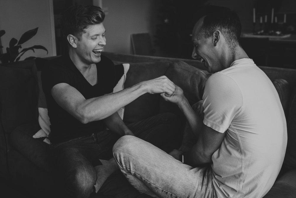 Oklahoma City Couples Boudoir gay men boyfriends playing games