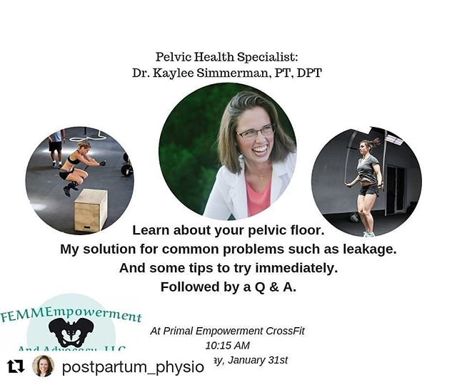 We love Dr Kaylee! I will be there, will you? #whatanopportunity #tampabaymoms #fitness #physicaltherapy #postpartum #educateandempower #informed #pelvicfloorhealth #alwayslearning #tampa #Repost @postpartum_physio (@get_repost) ・・・ TAMPA BAY!!!! - CrossFit females, postpartum athletes, new moms... - Don't miss your chance to learn, meet me, and ask questions next week! - Message me for details!!!! #tampa #tampabay #southtampa #stpetersburgflorida #crossfit #primalempowerment #crossfitmoms #crossfitfemales
