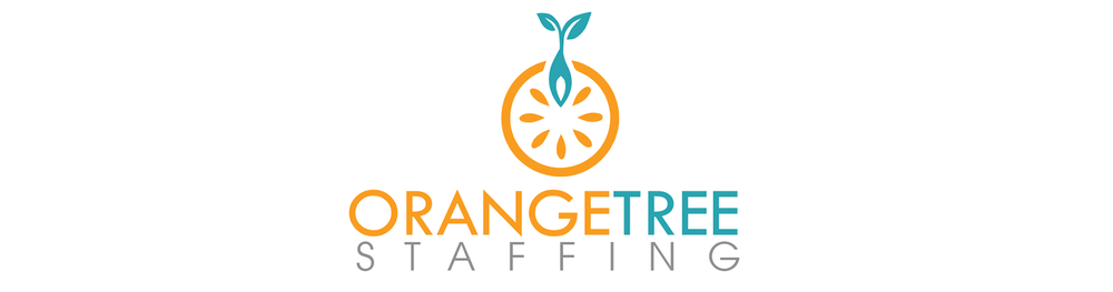 - Orange Tree Staffing is a staffing company that is rebranding upon a change in leadership. The company focuses on growth, which is evident upon the sprout growing from the orange seed.