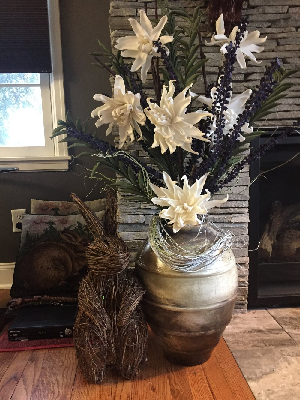 Vases & Arrangements - Vases, aside from be a holder for florals, greenery or botanicals, also make a design statement.  Vases are another readily available decor item, in many styles, shapes and sizes.  Arrangements can be high quality realistic permanent ones or fresh.