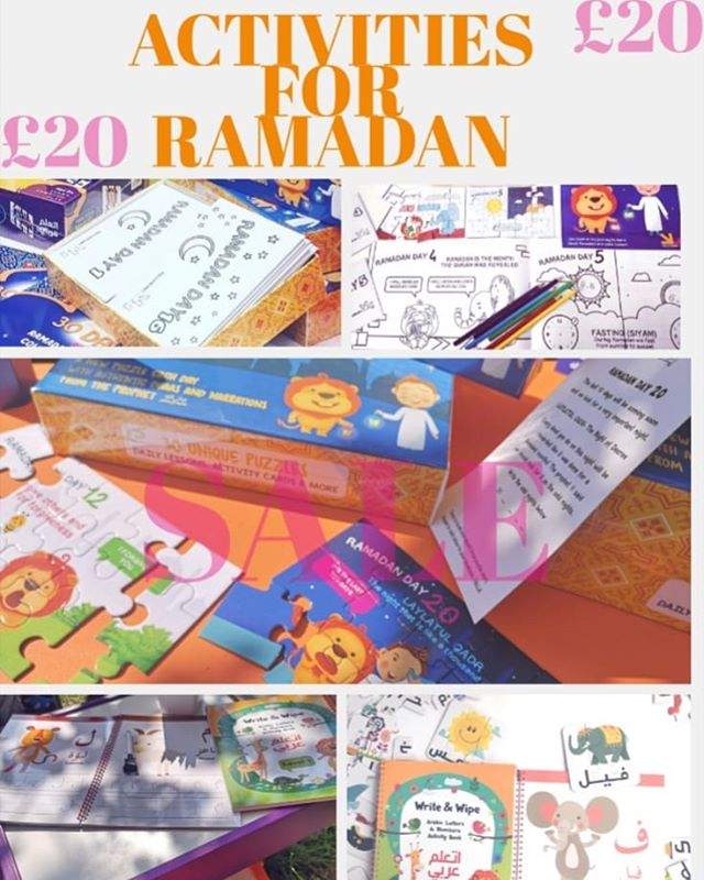 📢 OUR BIGGEST SALE YET📢 🌙 30 Days Of RAMADAN PUZZLES🌙 TAKE THE LEARNING OUT INTO THE GARDEN  WITH OUR FUN RAMADAN AND ARABIC ACTIVITIES 🔊 Limited time £20  Sale on at:  WWW.YALLAKIDS.CO.UK ✔️ Journey through Ramadan with Asad and Ali ✔️ Each day your child will decorate and build each puzzle ✔️ Work through the activity cards with topics on Salah, Zakah, duas and hadiths  #YALLACOLOUR🖌️ #YALLABUILD🔨 #YALLALEARN🎓 .  #ramadan#ramadan2019🌙 #ramadhanmubarak  #ramadhankareem #ramadhanforkids #islam #muslim #reminders #kidsactivities #learningforkids #islamic#homeschool #islamicknowledge #eid #ramadhangift #eidgift #gifts #kidsgifts#children