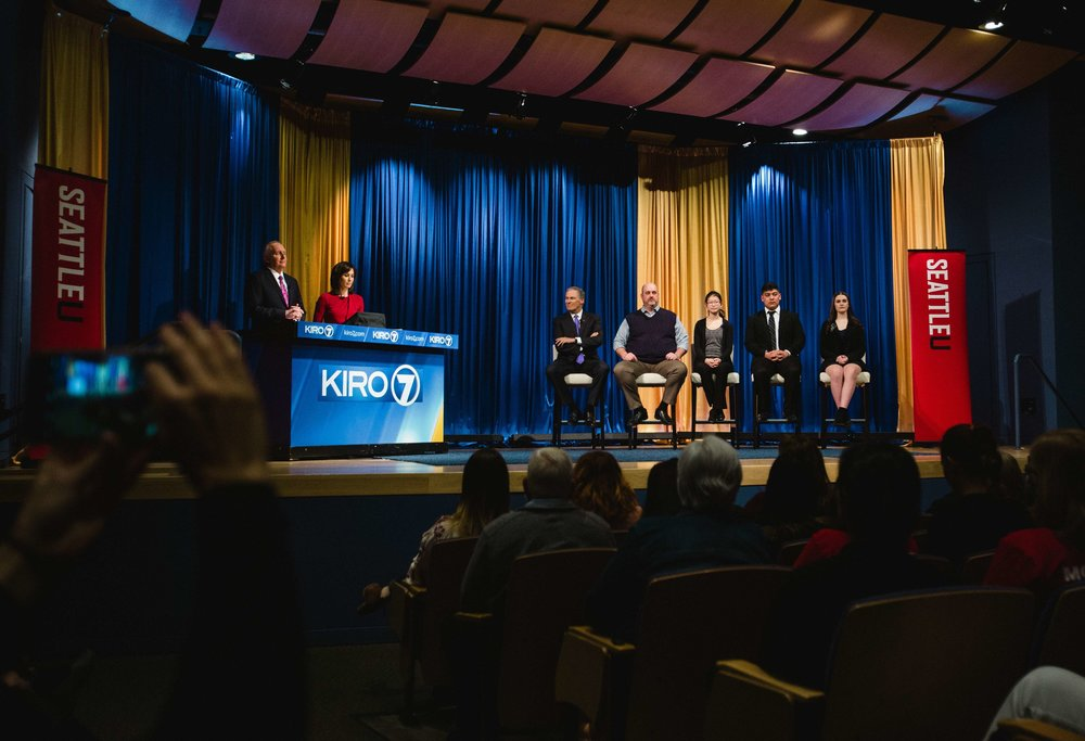 KIRO Town Hall - MFOLS Core Team member Catherine Zhu was a panelist on KIRO-TV's town hall on gun violence, alongside victims of gun violence as well as Governor Jay Inslee and other local and state officials.