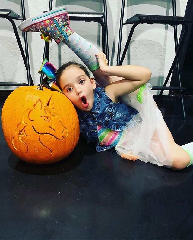 Congratulations to @mckinley_mdancer for winning our Halloween pumpkin carving contest! Such an amazing pumpkin and such and precious little girl!!!