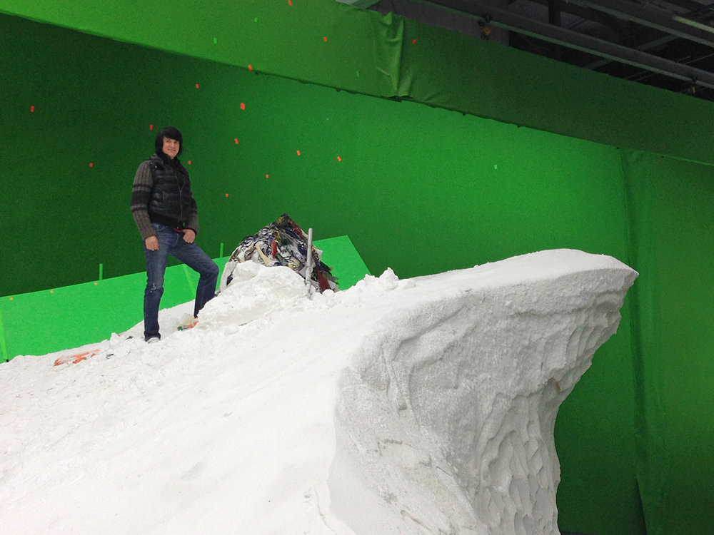 The Summit:  At the top of Everest on the Bond Stage at Pinewood Studios.