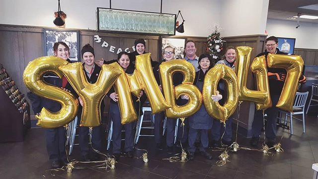 Congratulations to our amazing team for achieving 2017 Symbol of Success!  #SymbolOfSuccess is one of the highest awards given by @chickfila to their franchises. Thank you Springfield for helping us reach our goal. We are proud to be serving such a great community. ❤