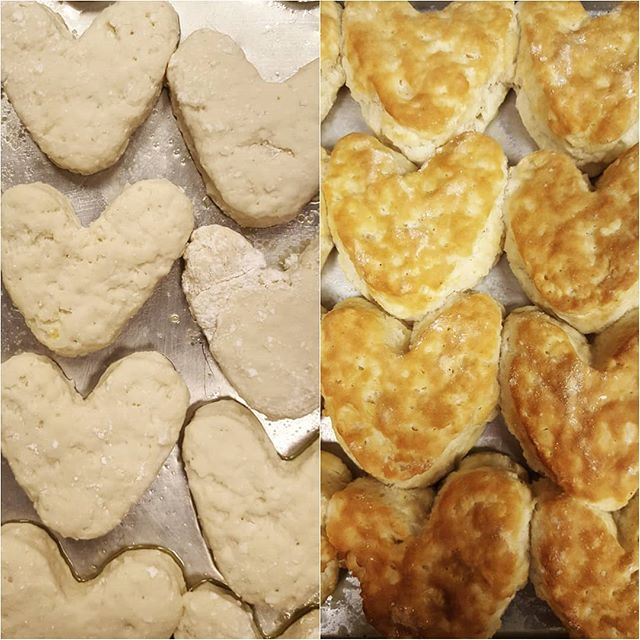 Talk about a #glowup 😍 Not only will we have heart-shaped biscuits for Valentine's Day, but tomorrow is also FREE BREAKFAST WEDNESDAY! Come to our drive-thru from 6:30am-10am to receive a surprise breakfast entree. . . Offer only at Chick-fil-A Sunshine & Campbell. Limit 1 per person.
