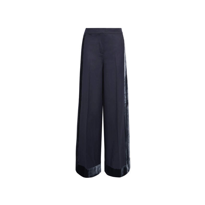 J.Crew Velvet-trimmed Wool Pants, $191.56