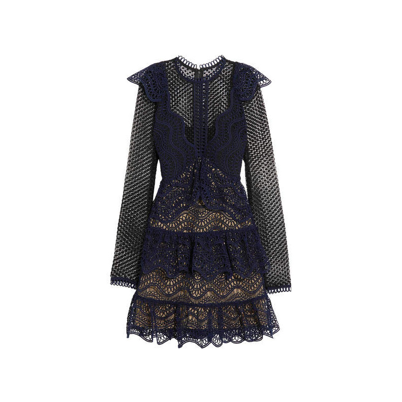 Self-Portrait SelfPortrait Lace Mini Dress, $166.46