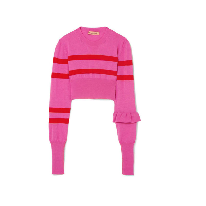 Maggie Marilyn Cropped Merino Wool Sweater, $129.76
