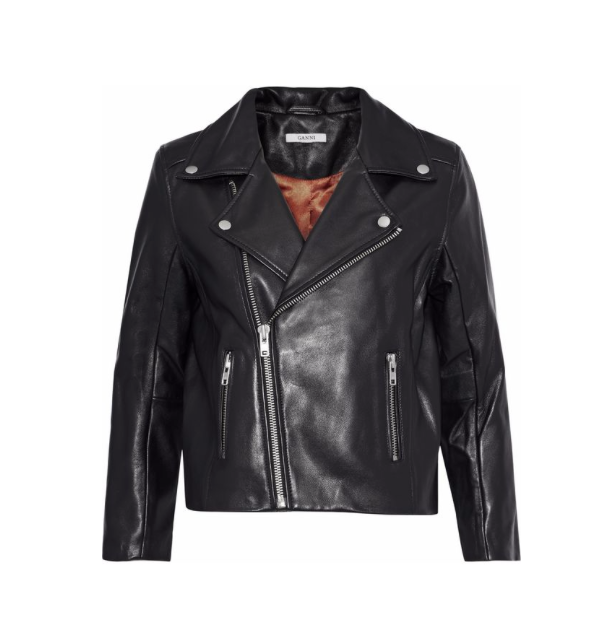Ganni leather jacket, $405