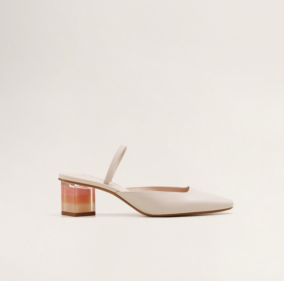 MANGO leather slingbaks, $167.25