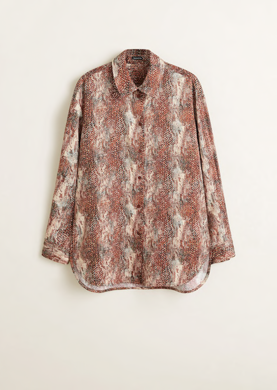 MANGO Snake print shirt, $111.50