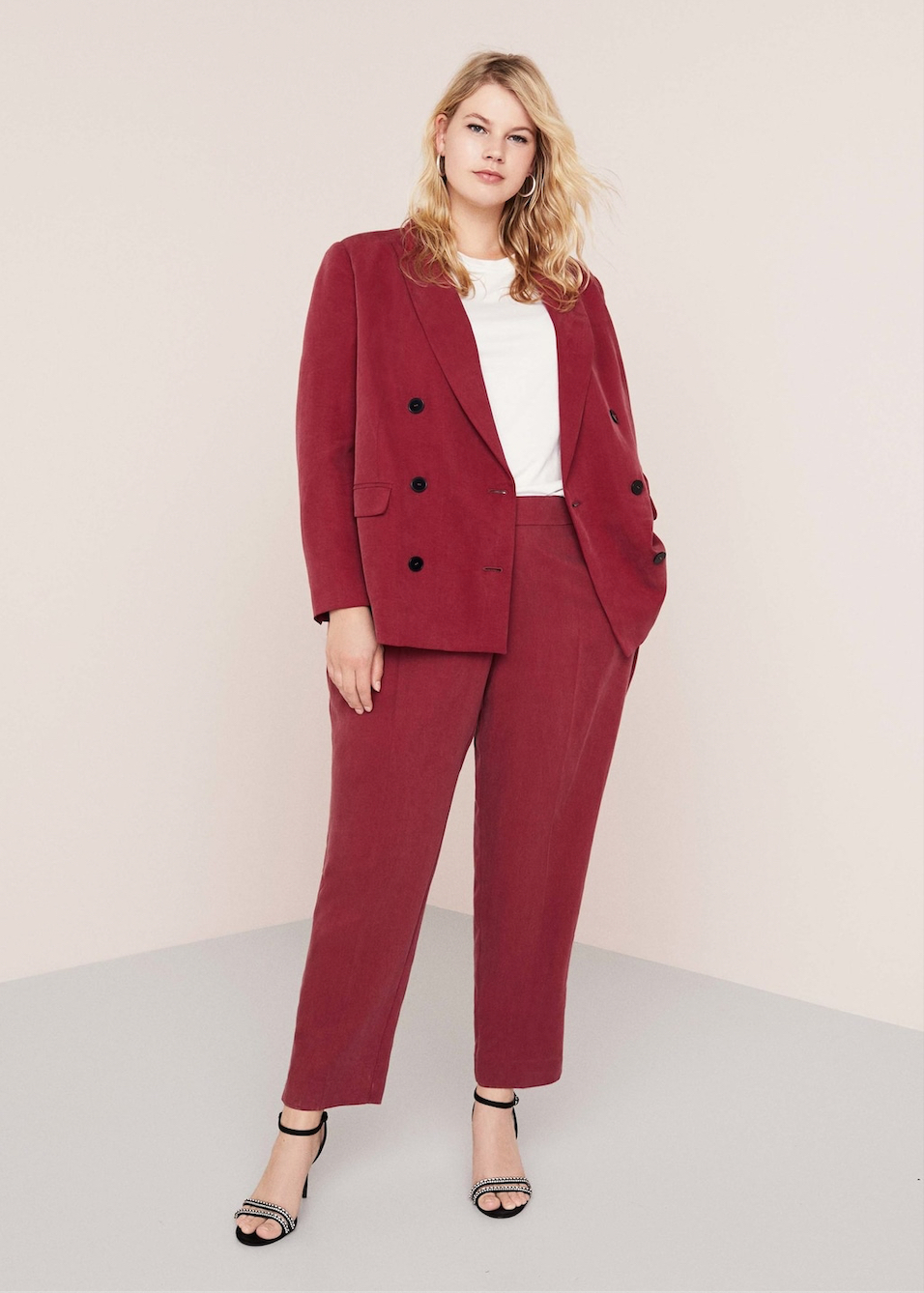Violeta By MANGO corduroy suit jacket, $99.95    Violeta By MANGO corduroy pants, $69.95
