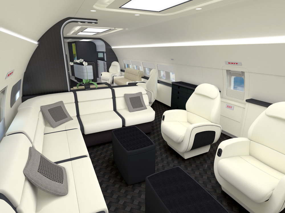 Boeing Business Jet Dining Concept