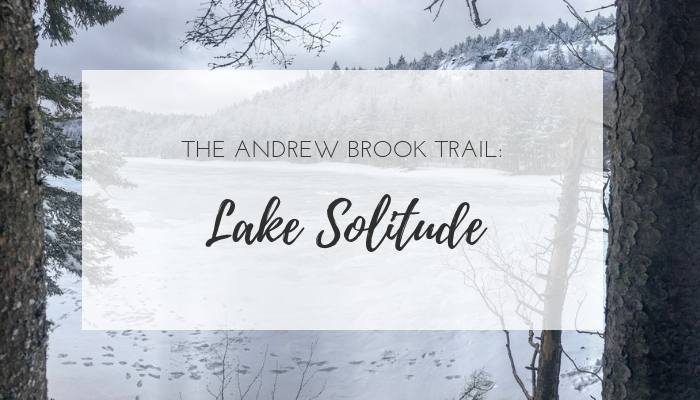 Lake Solitude hike via the Andrew Brook Trail - family friendly hikes in New Hampshire