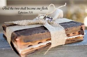 wedding rings and bible ephesians copy