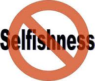 no selfishness