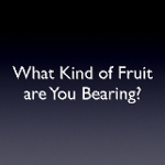 What Kind of Fruit are You Bearing