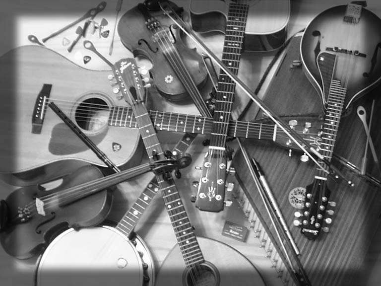 Instrument Collage BW