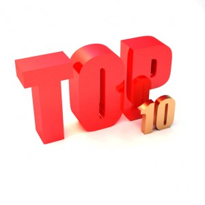 "isolated 3d golden text ""TOP 10"""