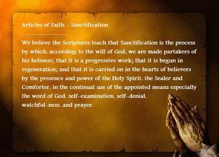 A.Sanctification