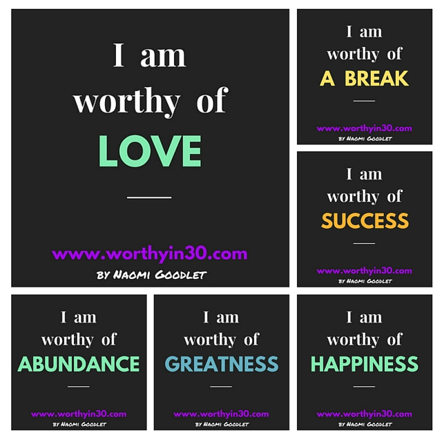 Worth In 30 affirmations