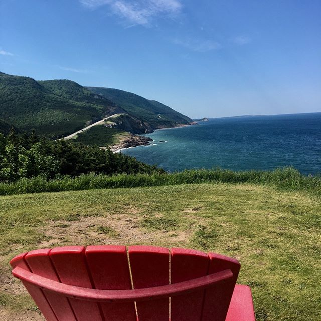Good Morning from The Cabot Trail! #redchairviews #truenorthdestinations #capebretondomedestination