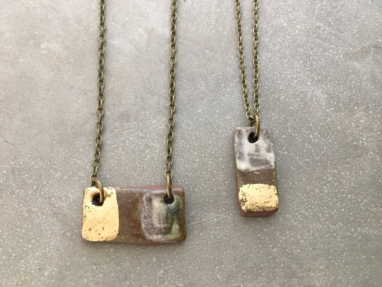 Rectangle pendant necklace britt bidlake studio rectangle pendant necklace mozeypictures Gallery