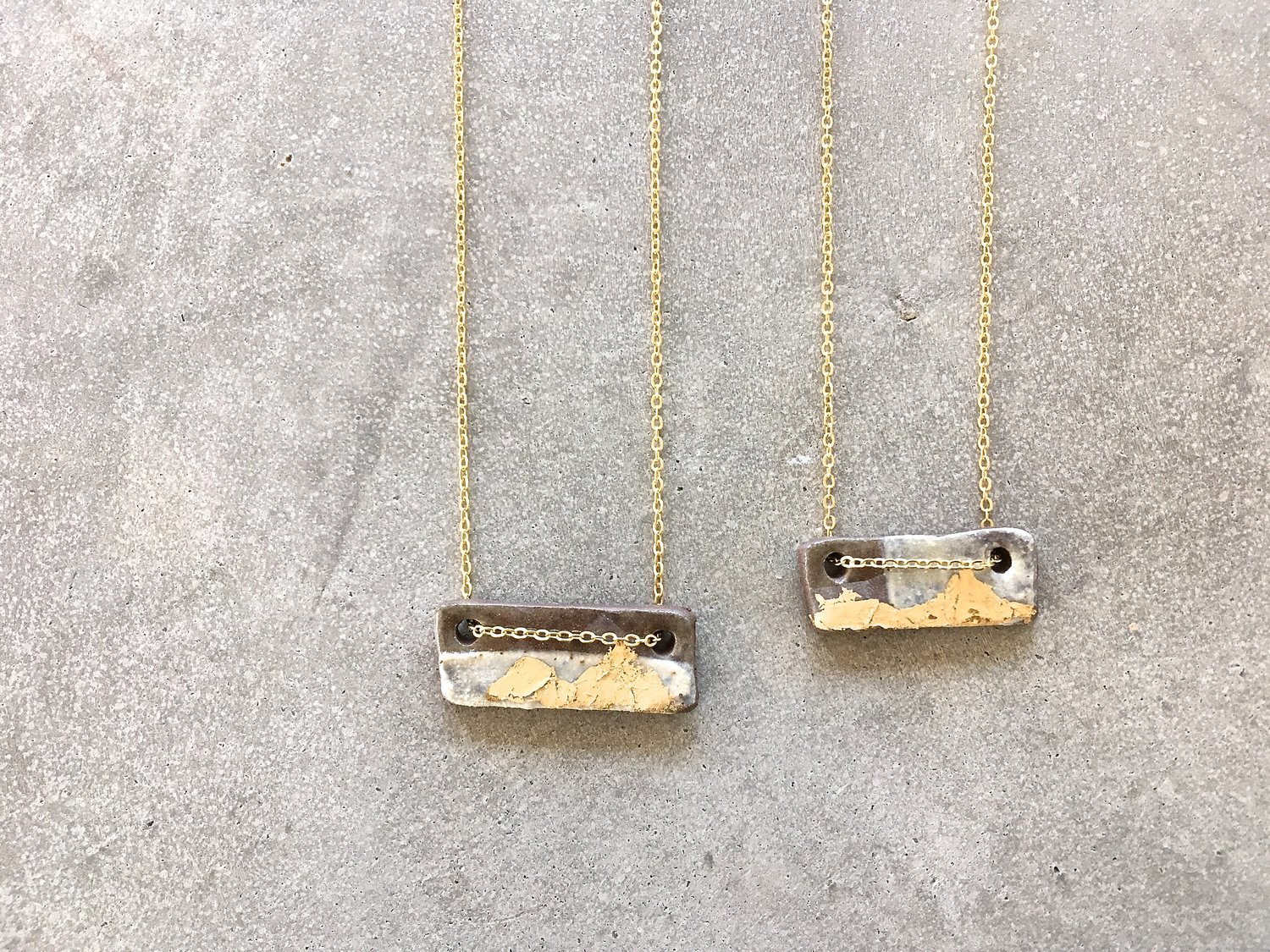 a in original chain storminateacup layered rectangle double gold storm necklace necklaces teacup notonthehighstreet com product by