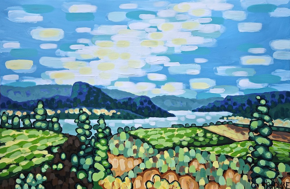 "'Trestle and Vines' Sold 24x36"" acrylic on canvas"