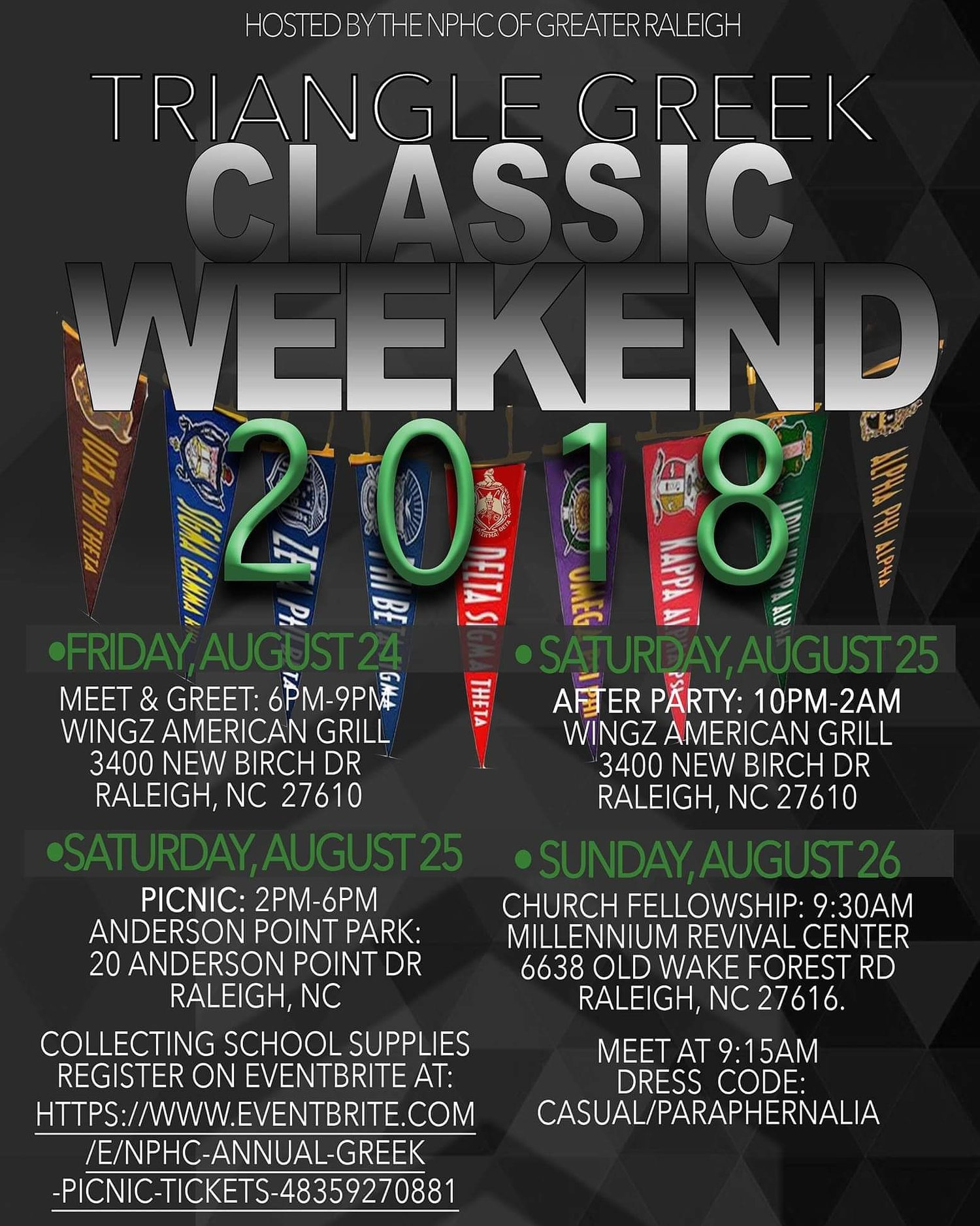 Triangle Greek Classic Weekend — NPHC Greater Raleigh Area