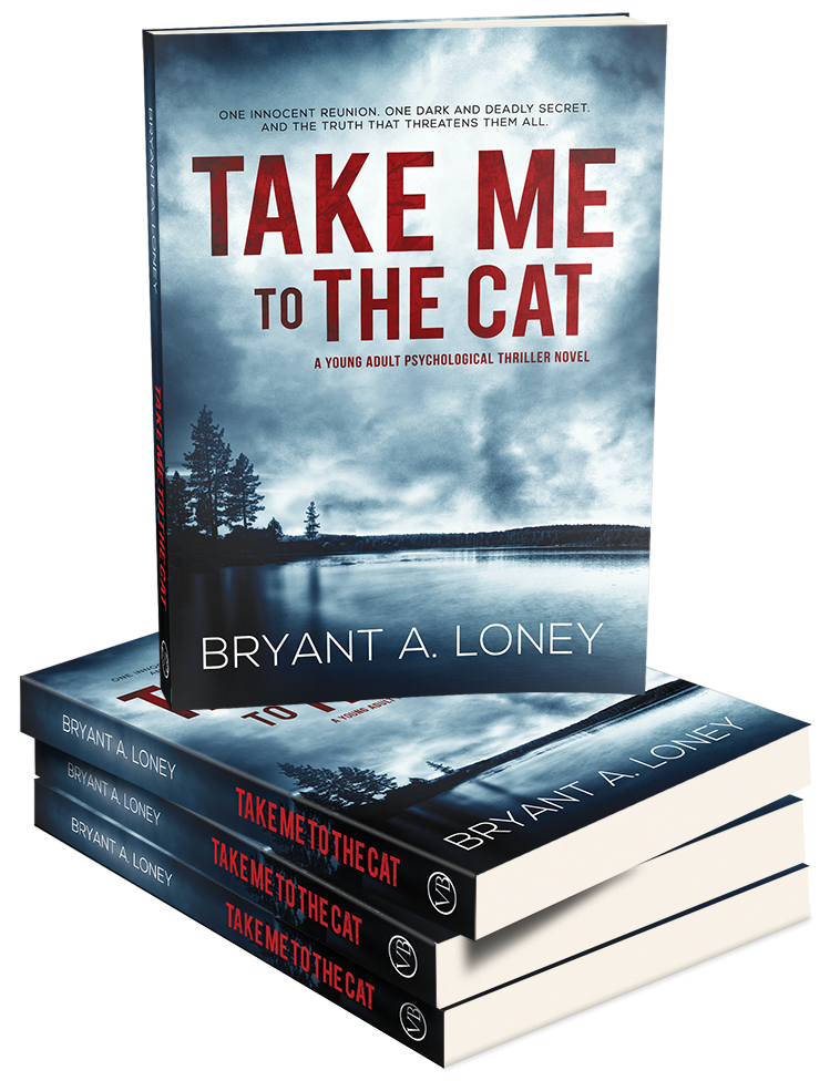 Take Me to the Cat -  Authored by Bryant A. LoneyPublished by Verona BooksellersNostalgic high school senior Michael Jackson wants nothing more than to reunite with his friends from elementary school—and possibly change his name. Transferring before middle school after his parents' nasty divorce, Michael always felt he was at his happiest back in his Oklahoma hometown. Inviting his lifelong crush Catherine, among other former classmates, to a spring break reunion party seems like the perfect plan for Michael to get closure on the formative years of his life.Yet nothing is as he remembers when Michael finds himself entangled in his own confusion between reality and nightmare. Suddenly, secrets from his childhood resurface, and the fanatic ringleader from Michael's past will do whatever it takes to silence his friends. Now it's up to Michael to save them all before it's too late. But does he have the courage and strength to go up against his own worst enemy?In this quirky psychological thriller from the mind of Bryant A. Loney, Michael will go through hell and high water as he faces his inner demons, unaware that the revelation he seeks demands the ultimate sacrifice.