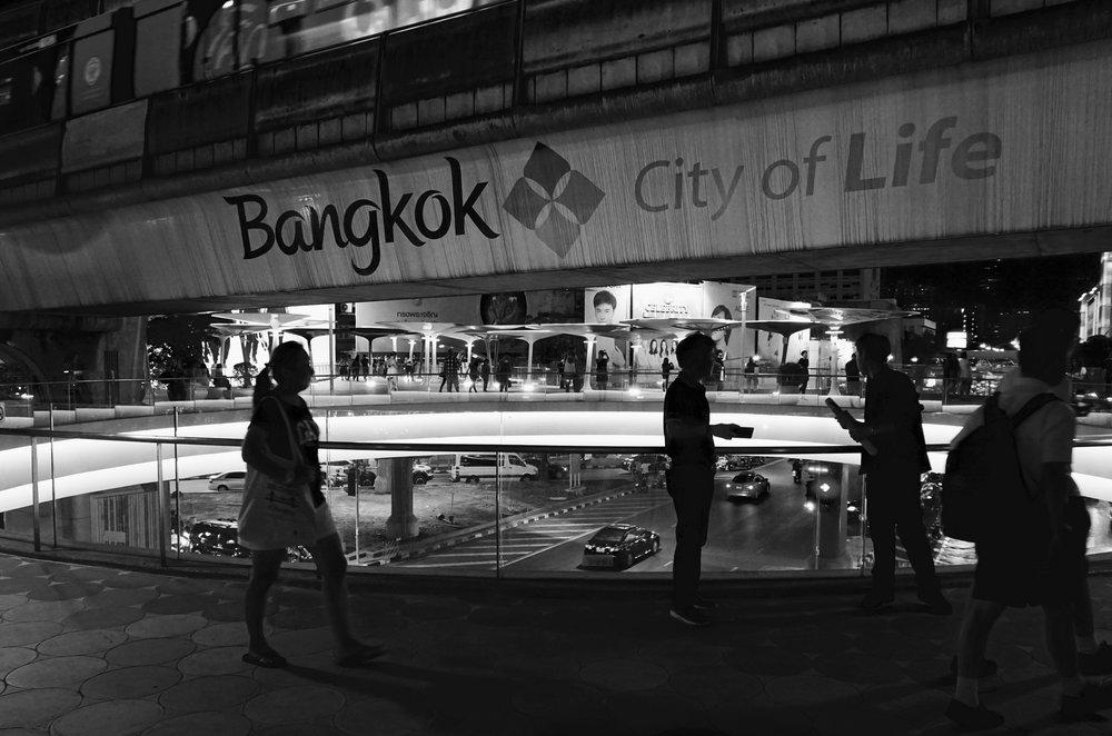 Bangkok, Thailand at night near the MBK centre
