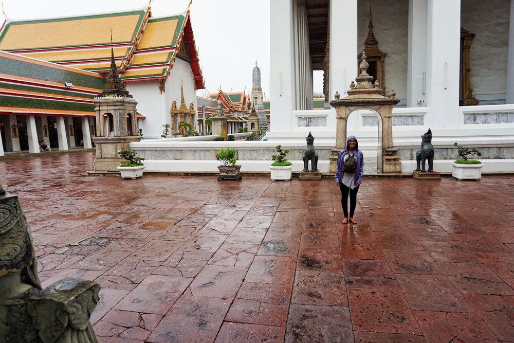 Rainy day at Wat Pho in Thailand